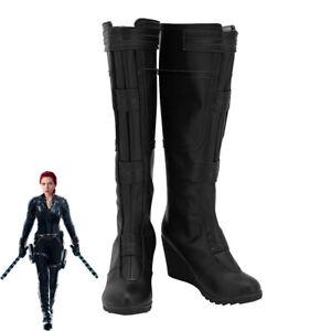 Endgame Black Widow Cosplay Boots Handmade Shoes Custom Made Avengers