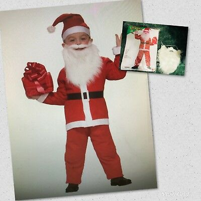 One Size Fits Up To Size 10 Simply Santa Claus Christmas Child Costume