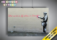 Poster Bansky What We Do In Life Wall Art