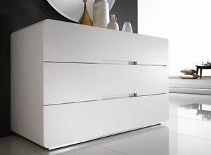 Como 39 con 2 comodini bianco frassinato camera da letto ebay for Comodini moderni mondo convenienza