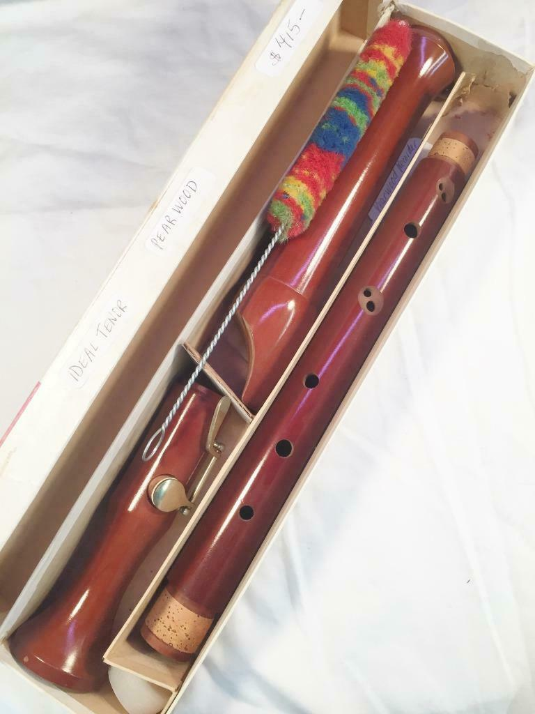 Vintage Ideal Pearwood Tenor Recorder-Good Playing Condition-Just Serviced