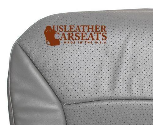 06 07 08 Ford E250 E350 Econolin Driver Bottom Perforated Vinyl Seat Cover Gray