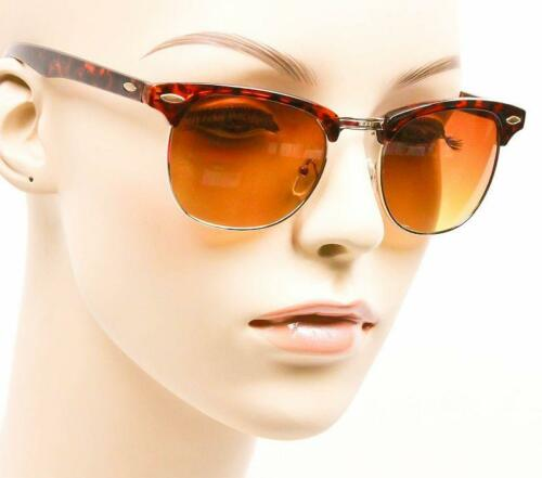 Retro Square Brownline Half Metal Brow Bar Aviator WaYf Hipster Sunglasses 7973