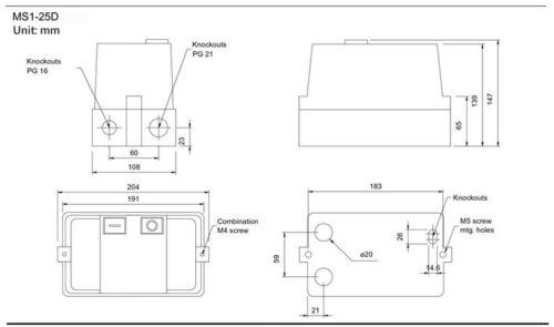 20HP 460V 3PH NHD Enclosed Motor Starter START STOP 26-32A Overload 440VAC Coil