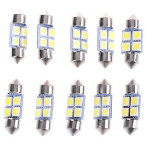 10Pcs-5050-31Mm-4Smd-Led-White-Light-Car-Interior-Dome-Festoon-Bulbs-Dc-FE