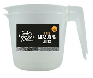 1000ml Measuring Cup Jug Plastic Baking Kitchen Tool Flour Sugar Water Measure Recipe