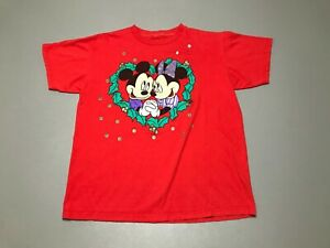 Vintage 90s Disney's Mickey & Minnie Mouse Love Romantic T-Shirt Adult Size S
