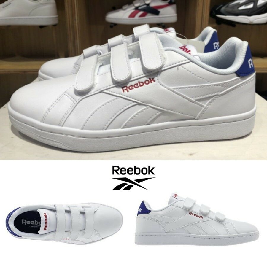 Reebok Classics Royal Complete Velcro shoes Sneakers White Navy DV5159 SZ4-12