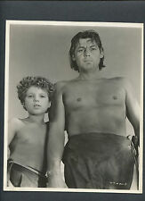 TARZAN + BOY - 1943 TARZAN TRIUMPHS - JOHNNY WEISSMULLER + JOHNNY SHEFFIELD