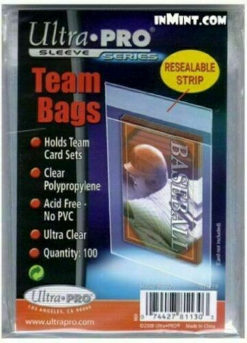 BCW team set bags Pack con 100 sleeves resealable