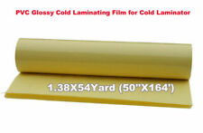 Glossy Clear Vinyl Cold Laminating Film Roll Laminator 1968x50 50x127m 2mil