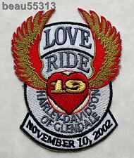 HARLEY DAVIDSON GLENDALE CALIFORNIA DEALER MDA 2002 19th LOVE RIDE VEST PATCH