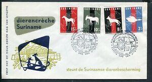 Suriname FDC E24_  1 M, blanco ; omgekeerde zegelvolgorde ;