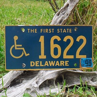 1622 Authentisch Kennzeichen Von Delaware Usa Nummernschild Direktverkaufspreis