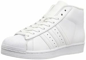 pretty nice 1c6a7 86523 Image is loading Adidas-Pro-Model-J-White-White-White-GS-