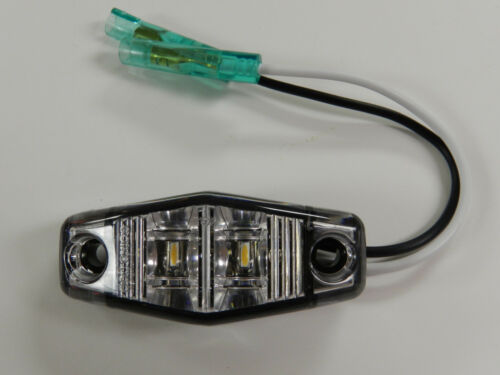 WHITE LED Camper Trailer surface mount light Clearance Optronics CLEAR 1