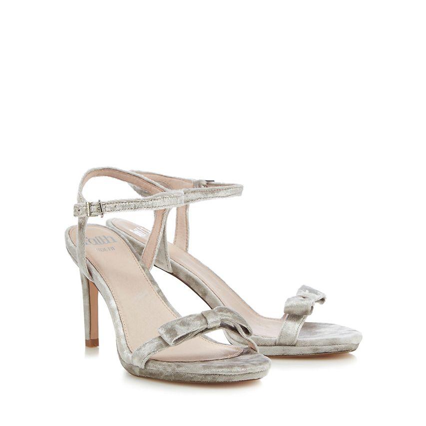 Faith Silver 'dodo' High Stiletto Heel Wide Fit Sandals UK 3 EU 36 Js180 NN 01