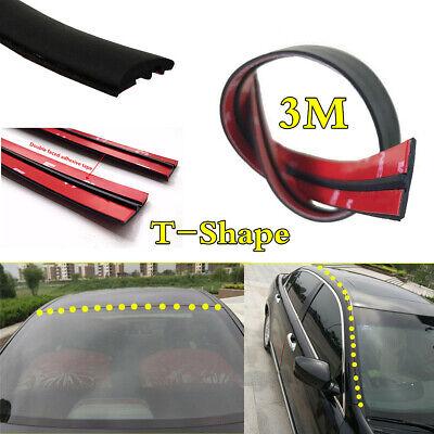 9.84ft Rubber Seal Car Front Rear Windshield Sunroof Dustproof Edge Weatherstrip