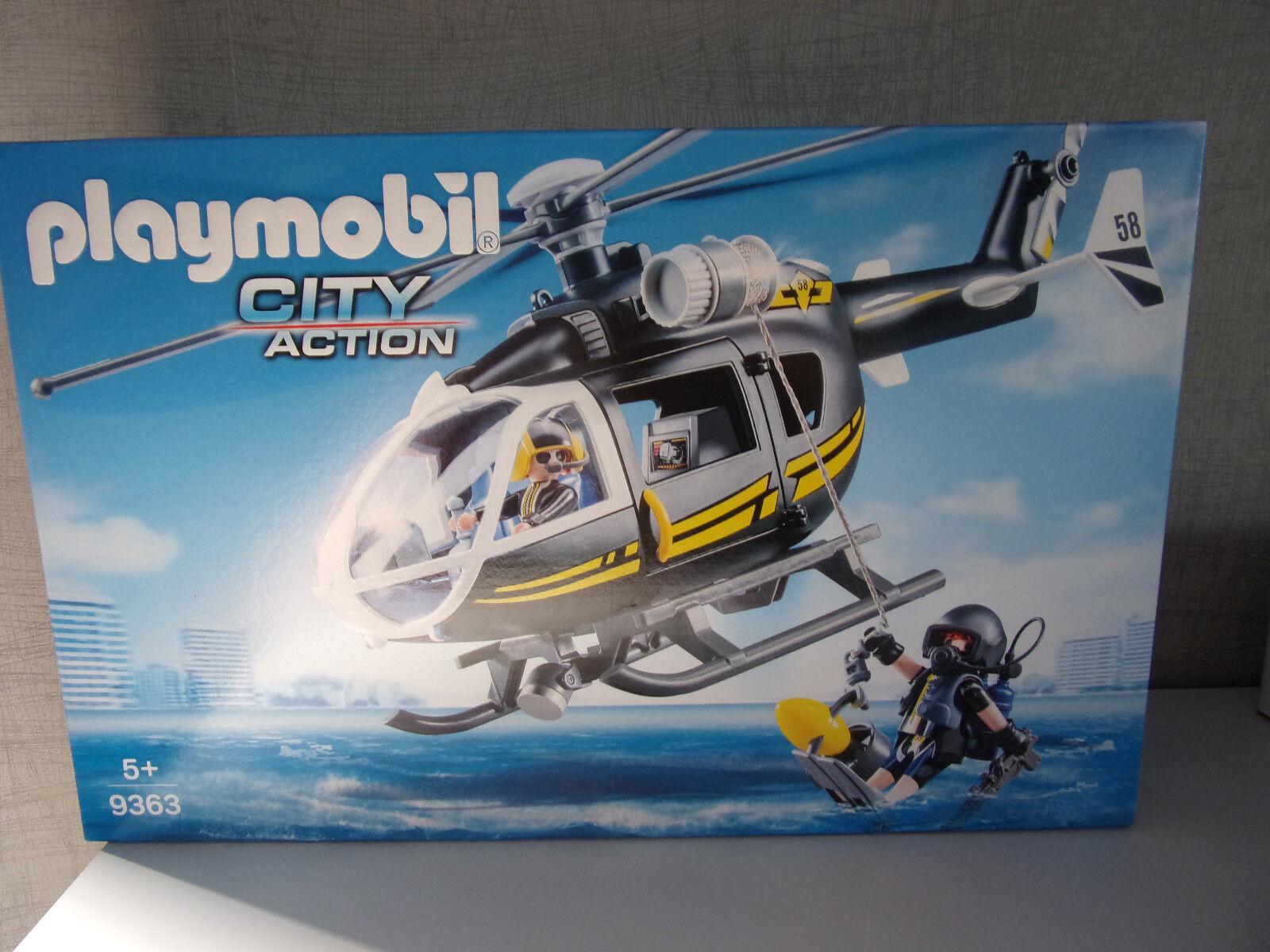 Playmobil City Action 9363 Sek Hélicoptère - Neuf et Emballage D'Origine