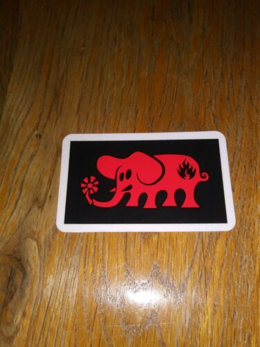 BLACK LABEL SKATEBOARDS VINTAGE THE HAPPY ELEPHANT LOGO SKATEBOARD STICKER