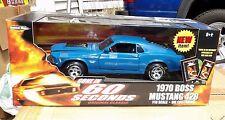 1/18 Ertl American Muscle 1970 Mustang Boss 429 BLUE Gone in 60 Seconds 33028