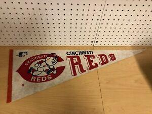 Vintage-1970s-Cincinnati-Reds-Full-Size-Felt-Pennant-Rare-MLB-Memorabilia