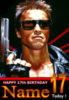 'THE TERMINATOR' Personalised Birthday Card!! LARGE A5 SIZE!!! ANY NAME,AGE!!