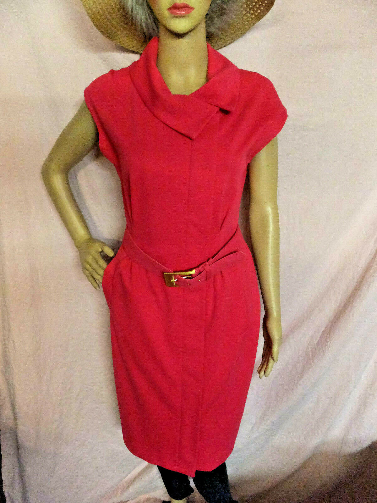 Ellen Tracy 8 Rosa Belted damen Dress Comes with Belt Ellen Tracy