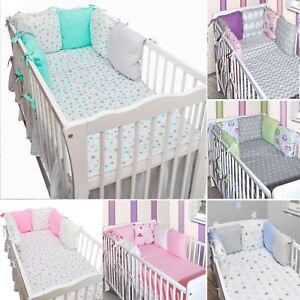 3tlg 8tlg baby bettw sche 6 x kissen als nestchen bettset 100x135 decke neu ebay. Black Bedroom Furniture Sets. Home Design Ideas