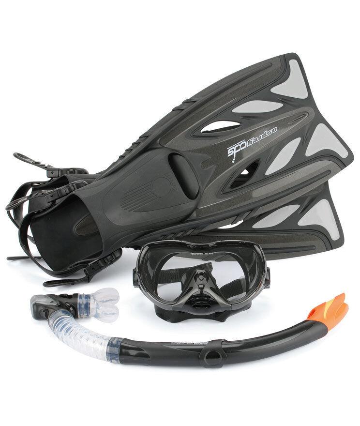 Osprey pro pro pro Maske Schnorchel Flossen Advanced Dive Set - Größen UK 5 - 10 Gelb 990770