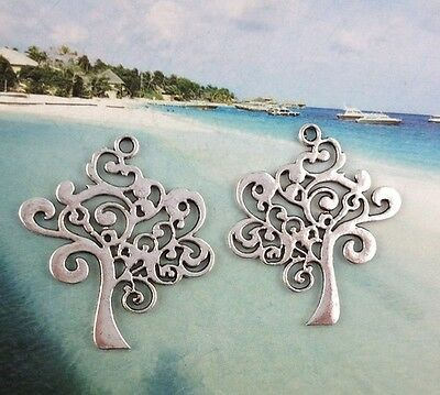 10Pcs Tibetan Silver TREE OF LIFE Charms FC15998