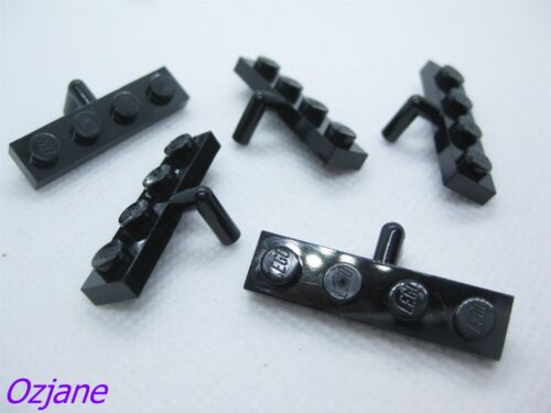 LEGO PART 30043 BLACK MODIFIED PLATE 1 X 4 ARM DOWN X 5 PCS