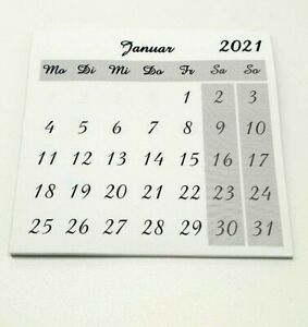 Kalender Zum Basteln 2021