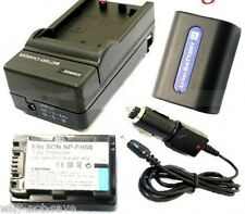 2X NP-FH50 Battery + Charger for Sony camcorder NP-FH40 DCR-SR42 SR45 SR40 SR32