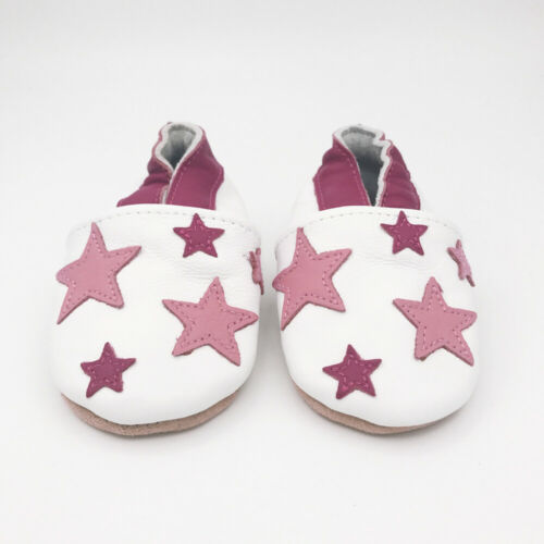 SECONDS 18-24 MONTHS Dotty Fish Soft Leather Baby Shoes Boys Girls Toddler