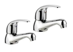 Prix Pas Cher Modern Createur Chrome Cerna Lever Basin Sink Pillar Taps Quarter Turn-afficher Le Titre D'origine AgréAble à GoûTer