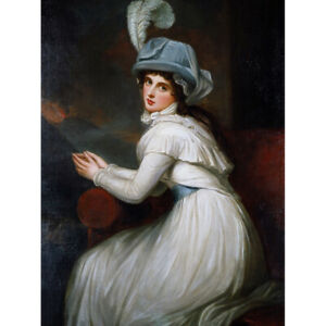 Romney-Portrait-Lady-Hamilton-Painting-Canvas-Art-Print-Poster