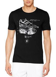 ac893e3da New Men's Nike Sportswear Huarache Sketch Black Crew Neck Top T ...