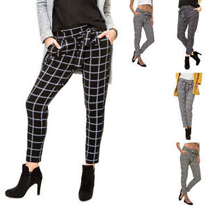 Hailys Hose Sommerhose Anzughose Paperbag Zu Details Fit Comfort Stoffhose Damen 78 odBxCe