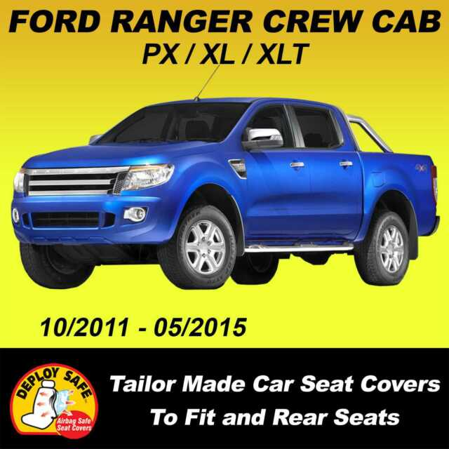 Car Seat Covers For FORD RANGER DOUBLE CAB  PX XL XLT 2011-05/2015 Airbag Safe!!