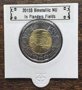 CANADA-2015-New-2-dollar-TOONIES-In-Flanders-Fields-BU-directly-from-mint-roll