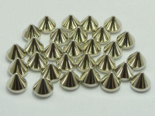 Craft À faire soi-même silver gold tone metallic Acrylique Flatback Punk Spike Studs aucun trou
