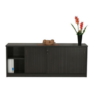 Image Is Loading Credenza Or Buffet Sliding Door Cabinet Commercial Buisness
