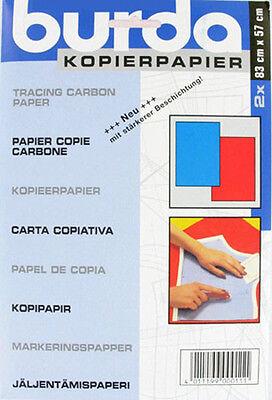Feuilles papier carbone rouge & bleu pour patron BURDA - couture - mercerie
