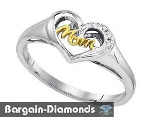mom diamond .02 carat white 925 heart ring life journey ...