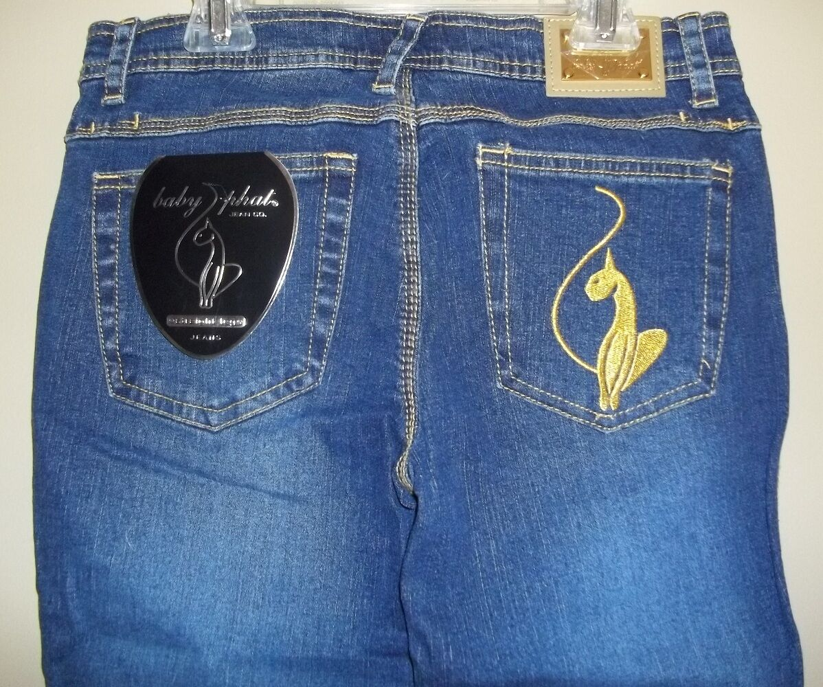 Baby Phat Str8 Leg Stretch Jeans Size 5 Denim Pants NWT