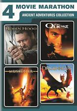 4 FILM MARATHON - 2 DVD WS SET - ROBIN HOOD, DRAGON HEART, QUEST. & MUSKETEER