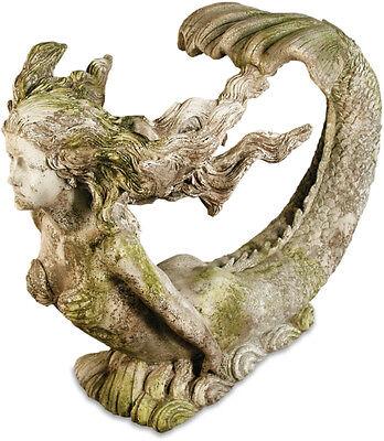 Giant Mermaid Garden Statue by Orlandi Statuary FS8340-Faux Concrete