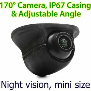 Car Front Side View Forward Camera Colour Parking Night Mode Mini 170 Degree OZ