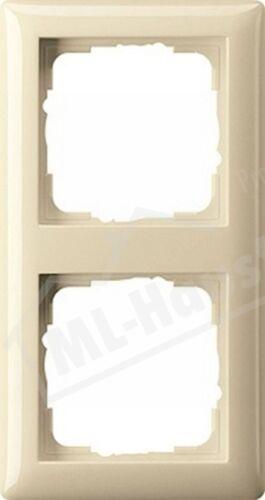 Gira 021201 Rahmen 2-fach cremeweiss glänzend Standard 55 bruchsicher